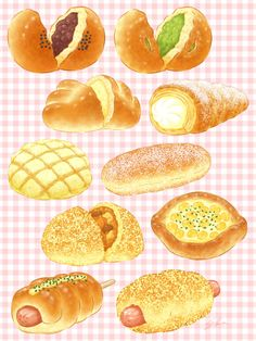 Food N, Food And Drink, Desserts Drawing, Art Kawaii, Cute Food Art, Real Food Recipes, Yummy Food, Food Sketch, Food Cartoon