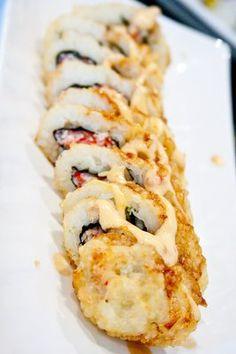 Deep fried California Roll with Eel Sauce. Sooo good.
