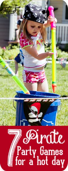7 fun Pirate party games perfect for a hot day. Avast me hearties there be fun ahead!