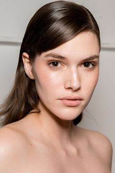 It was all about amping up hair's shine-factor backstage at The Brock Collection.