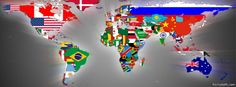 paises con su bandera