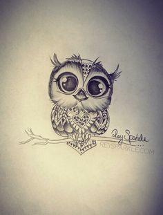 Tattoo Owl by Rey Sparkle