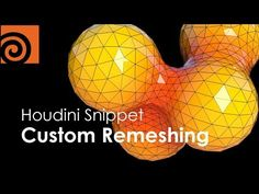 Learn how to control Houdini's Remeshing node letting you take control of face size in specific locations of the object, perfect for adding more resolution.