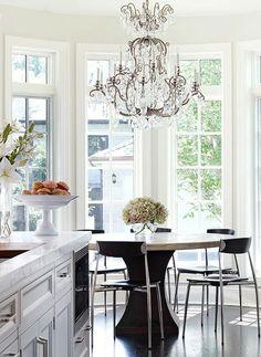 Chandeliered kitchen