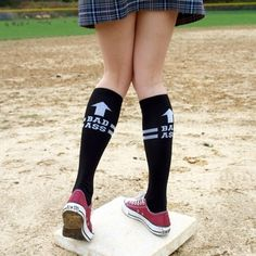"""These are supposedly """"derby"""" socks, but I think I may have to get them as motivation for Tri's this upcoming summer."""
