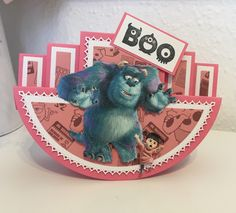 Disney Monsters, Monsters Inc, Lace Design, Card Ideas, Cards, Color, Map, Colour, Playing Cards
