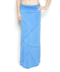 Look what I found on #zulily! Swedish Blue Burnout Patchwork Maxi Skirt by Anouka #zulilyfinds