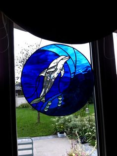 Stained Glass Dolphin