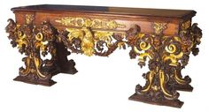 Italian Console Table, first half of the 17th century. Museum of Applied Arts, Budapest