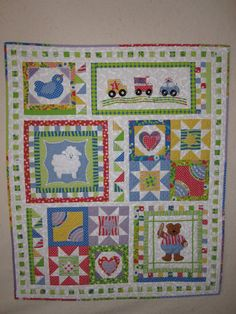 Love baby quilts, another one using Moda Hoopla
