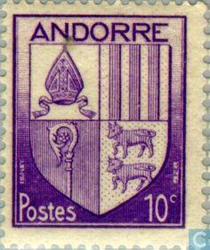 Andorra - French - Heraldry 1944