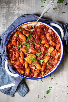 Gigantes Plaki - Greek giant beans baked in tomato sauce and spices