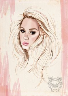 ADELE Portrait Poster Fashion Illustration by Rachillustrates, Digital Portrait, Digital Art, Adele Style, Celebrity Portraits, Drawings, Drawing Portraits, Illustration, Artist, Poster