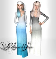 Sims 3 Finds - Gradient gown at My Happy Ending