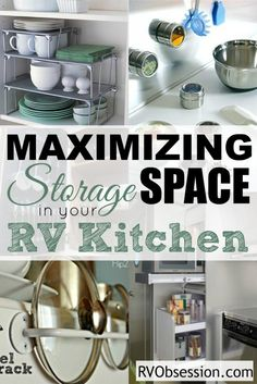 Small Kitchen Storage Ideas - When you're limited in space you need to make the most of all the storage that you have in your small RV kitchen. These tips will help you to maximize the space to get the most storage and usefulness.