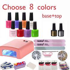Burano Nuovo Arrivo Vendita Calda Soak-off Gel polish gel nail kit attrezzi di arte del chiodo set kit manicure set scegli 8 colori NUOVO
