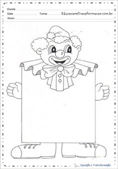 Bilderesultat for maestra gemma carnevale Theme Carnaval, Carnival Crafts, School Carnival, Circus Theme, Math For Kids, Clowns, Colouring Pages, Craft Patterns, Colorful Pictures