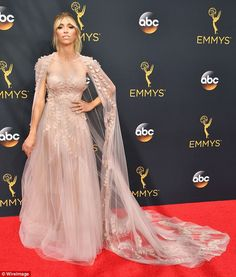 Once upon a time: Giuliana Rancic looked like she had stepped out of a fairytale in a deli...
