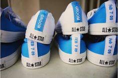 Sooooo cute!  #shoes, #weddings, #converse, #bride, #groom