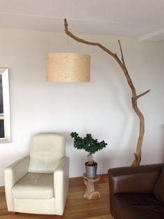 Einzigartige Stehlampe Bogenlampe von Hand mit von GBHNatureArt