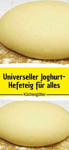 Universal yoghurt yeast dough for everything - Germany Rezepte Pizza Recipes, Cooking Recipes, How To Make Pizza, Party Buffet, Bread Rolls, Hot Dog Buns, Food And Drink, Sweet Stuff, Germany