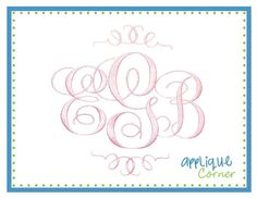 10 Best Monograms Images Embroidery Fonts Monogram Fonts Embroidery Designs