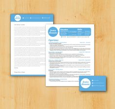 Job Seeker Package - Custom Resume and Cover Letter DESIGN & WRITING, Business Card Included - The Jessica Alexander Design Cv Design, Resume Design, Graphic Design, Cover Letter Design, Cover Letter For Resume, Cover Letters, Resume Layout, Creative Resume, Job Search