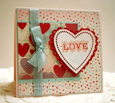 Stampin' Up Valentine using More Amore and Affection Collection.