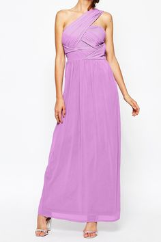 Sukienka grecka długa fiolet