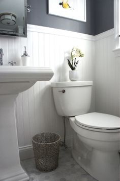 top of wall would be yellow instead.. because I have a grey toliet