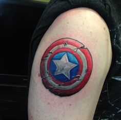 Captain America Tattoos Designs Ideas and Meaning Captain America Tattoo, Captain America Shield, Shield Tattoo, Marvel Tattoos, Tattoo Designs, Tattoo Ideas, Get A Tattoo, Tattoos With Meaning, Tattoos For Women