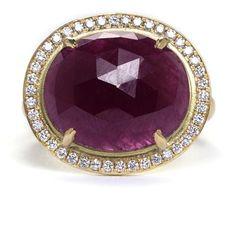 Anne Sportun Rose-Cut Ruby and Diamond Ring