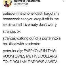 TONY IS PETER'S DAD, but yeah this is cool