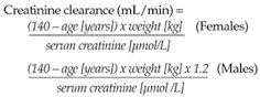 creatinine clearance equation - Google Search