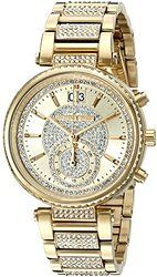 Here are the best prices for Michael Kors Women's Sawyer Gold-Tone Watch Michael Kors Gold, Michael Kors Watch, Cool Watches, Watches For Men, Female Watches, Women Brands, Gold Watch, Swarovski Crystals, Jewelry Accessories
