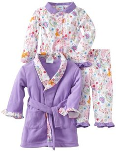 Baby Bunz Baby-girls Infant LG 3 Piece Slumber Party Robe and Pajama Set, Light Purple, 24 Months - http://www.discoverbaby.com/maternity-clothes/sleepwear/baby-bunz-baby-girls-infant-lg-3-piece-slumber-party-robe-and-pajama-set-light-purple-24-months/