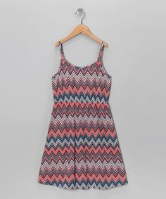 Coral Free Fall Mossoni Dress - Girls by Roxy on #zulily today!