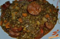 Šošovica s klobásou Quinoa, Beef, Recipes, Food, Bulgur, Meat, Eten, Recipies, Ox