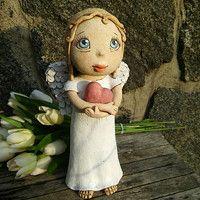 Clay People, Art Dolls, Garden Sculpture, Angeles, Illustrations, Studio, Outdoor Decor, Paper, Ideas