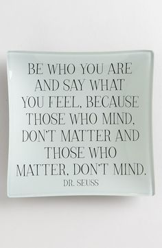 Ben's Garden 'Be Who You Are' Trinket Tray | Nordstrom