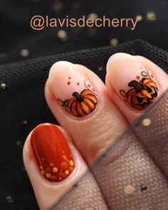 Visit the post for more. Nail Design Glitter, Nail Design Spring, Fall Nail Designs, Gel Nail Art Designs, Cute Nail Art Designs, Halloween Nail Designs, Halloween Nail Art, Holloween Nails, Cute Halloween Nails