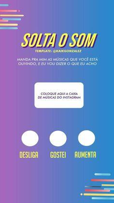 #brincadeira #stories #storys #story #instagram #joguinho #insta #brincadeiraparainstagram #instastorys Instagram Music, Story Instagram, Instagram Blog, Instagram Posts, Checklist Template, Pranks, Unity, Digital Marketing, Musicals