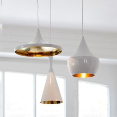 Modern Beat White Pendant Light #60W #ceiling-light #designer