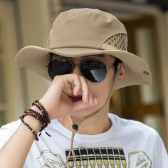 162c0518fb1a6 Male Summer Hat Shade Bucket High-Quality Outdoor Leisure Sunscreen Hats  for Men Mens Sun