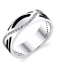 I like this wedding band for my man.