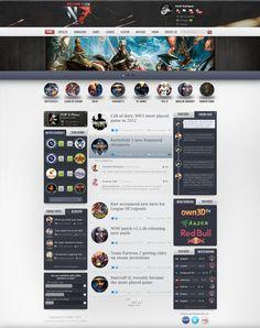 Gaming Nocturne7 webdesign by ~rEspaWn16 on deviantART