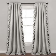 Reyna Window Curtain Panels Light Gray 54x95 Set - Lush Decor 16T003616