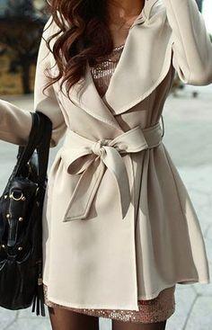 Lovely white coat for winter