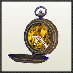 Doctor Who Clock Free Papercraft Download - http://www.papercraftsquare.com/doctor-clock-free-papercraft-download.html