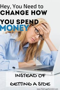 If side hustles and trying to bring in more money is leaving you exhausted and frustrated, let me tell you, this is what you need to try instead. It's a for sure way to save money, make money and you can do it. Ways To Save Money, Money Tips, Money Saving Tips, How To Make Money, Managing Money, Get Cash Fast, Live On Less, Becoming A Blogger, Money Makeover